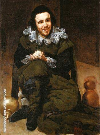 The Buffoon Calabazas Calabacillas 1637 By Diego Velazquez Replica Paintings on Canvas - Reproduction Gallery