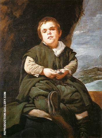 The Dwarf Francisco Lezcano EI Nino de Vallecas 1643 By Diego Velazquez - Oil Paintings & Art Reproductions - Reproduction Gallery