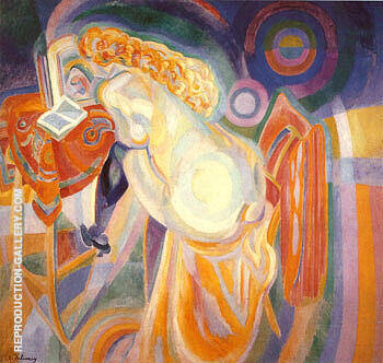 Nude Woman Reading 1915 By Robert Delaunay Replica Paintings on Canvas - Reproduction Gallery