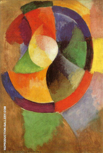Circular Forms Sun No 2 c1912 By Robert Delaunay - Oil Paintings & Art Reproductions - Reproduction Gallery