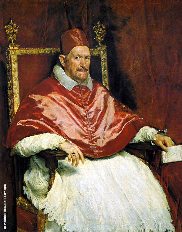 Portrait of Innocent X 1650 by Diego Velazquez   Oil Painting Reproduction Replica On Canvas - Reproduction Gallery