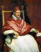 Portrait of Innocent X 1650 By Diego Velazquez