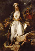 Greece on the Ruins of Missolonghi 1826 By Eugene Delacroix
