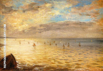 Reproduction of The Sea from the Heights of Dieppe 1852 by F.V.E. Delcroix | Oil Painting Replica On CanvasReproduction Gallery