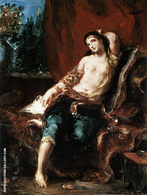 Odalisque 1857 By Eugene Delacroix