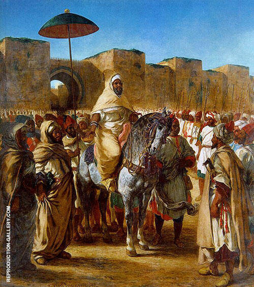 Reproduction of The Sultan of Morocco and his Entourage 1845 by F.V.E. Delcroix | Oil Painting Replica On CanvasReproduction Gallery