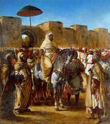The Sultan of Morocco and his Entourage 1845 By Eugene Delacroix