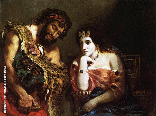 Cleopatra and the Peasant 1838 By Eugene Delacroix