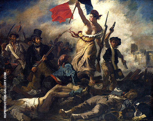 Reproduction of Liberty Leading the People 1830 by F.V.E. Delcroix | Oil Painting Replica On CanvasReproduction Gallery