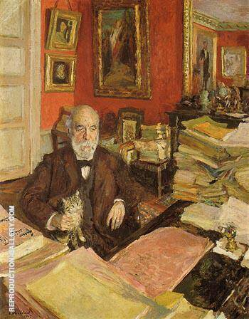 Theodore Duret ni His Study 1912 By Edouard Vuillard - Oil Paintings & Art Reproductions - Reproduction Gallery