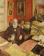 Theodore Duret ni His Study 1912 By Edouard Vuillard