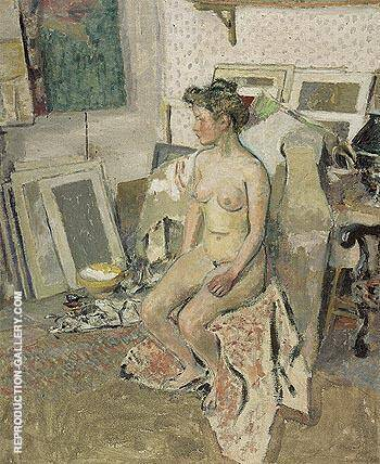 Nude in the Studio c1902 By Edouard Vuillard Replica Paintings on Canvas - Reproduction Gallery