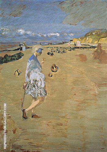 Annette on the Beach at Villerville 1910 By Edouard Vuillard