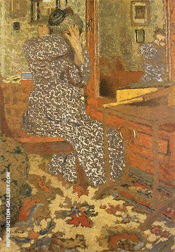 Woman Arranging Her Hair 1900 By Edouard Vuillard