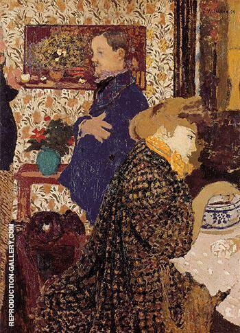 Misia and Vallotton at Villeneuve 1899 Painting By Edouard Vuillard