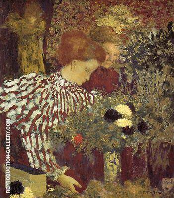 The Striped Biouse 1895 By Edouard Vuillard Replica Paintings on Canvas - Reproduction Gallery
