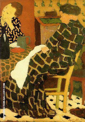 Mother Daughters c1891 By Edouard Vuillard Replica Paintings on Canvas - Reproduction Gallery