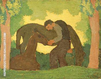 Man with Two Horses By Edouard Vuillard - Oil Paintings & Art Reproductions - Reproduction Gallery