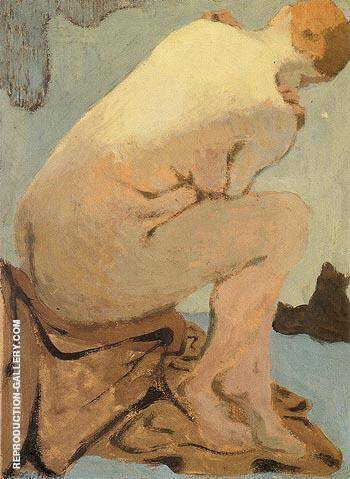 Seated Nude Nu assis By Edouard Vuillard