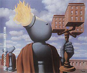 Reproduction of The Cicerone 1947 by Rene Magritte | Oil Painting Replica On CanvasReproduction Gallery