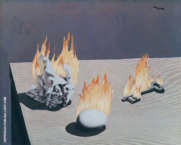 The Gradation of Fire Painting By Rene Magritte - Reproduction Gallery