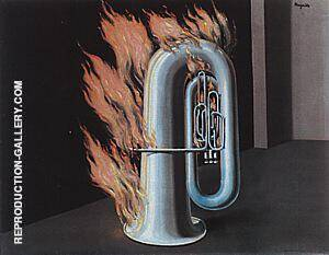 The Discovery of Fire c1934 Painting By Rene Magritte