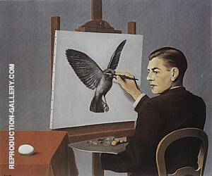 Clairvoyance Self-Portrait 1936 Painting By Rene Magritte