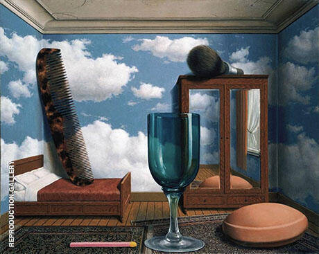 Personal Values c1951 By Rene Magritte - Oil Paintings & Art Reproductions - Reproduction Gallery
