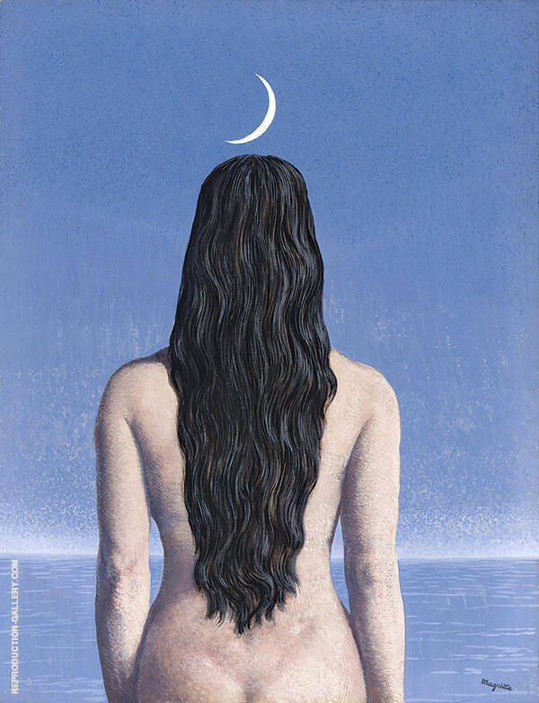 The Evening Gown 1954 Painting By Rene Magritte - Reproduction Gallery