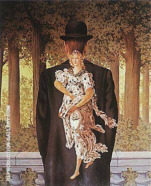 Reproduction of The Ready-Made Bouquet,  1956 by Rene Magritte | Oil Painting Replica On CanvasReproduction Gallery