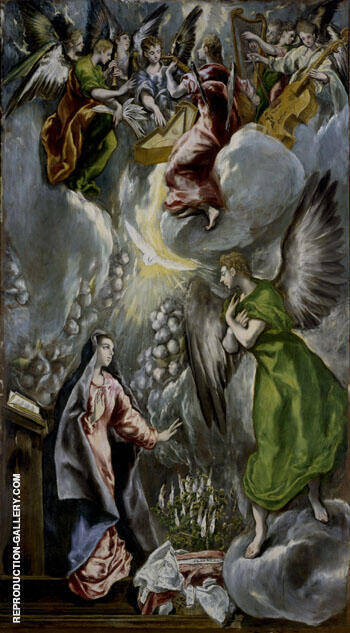 Annunciation c1596 By El Greco - Oil Paintings & Art Reproductions - Reproduction Gallery