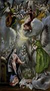 Annunciation c1596 By El Greco