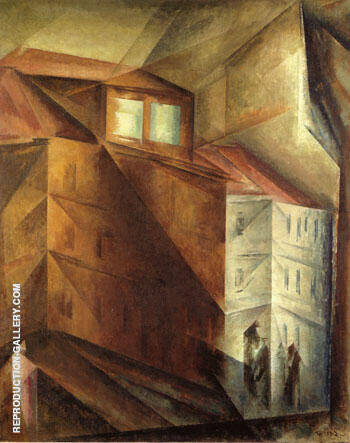 The Studio Window 1919 By Lyonel Feininger - Oil Paintings & Art Reproductions - Reproduction Gallery