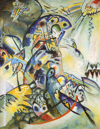 Blue Arch Ridge 1917 By Wassily Kandinsky Replica Paintings on Canvas - Reproduction Gallery