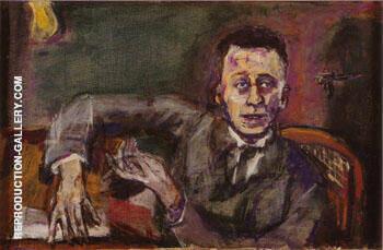 Portrait of Kark Krauss II 1925 By Oskar Kokoschka
