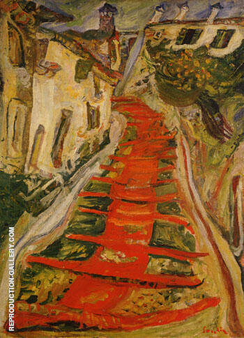 Red Stairway at Cagnes c 1923 By Chaim Soutine
