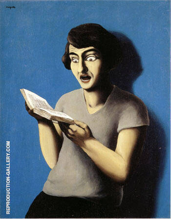 The Subjugated Reader 1928 By Rene Magritte Replica Paintings on Canvas - Reproduction Gallery