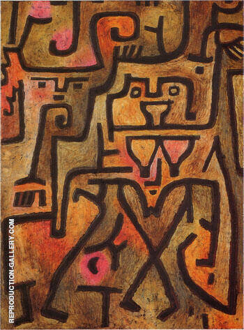 Forest Witches 1938 By Paul Klee - Oil Paintings & Art Reproductions - Reproduction Gallery