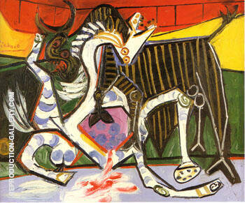 Reproduction of Bullfight 1834 by Pablo Picasso | Oil Painting Replica On CanvasReproduction Gallery