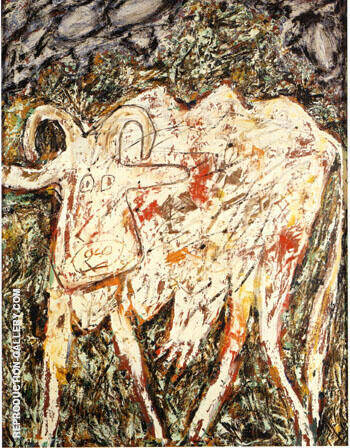 Cow with the Beautiful Muzzle 1954 By Jean Dubuffet