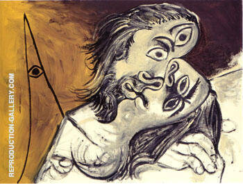 Le Baiser 1969 By Pablo Picasso - Oil Paintings & Art Reproductions - Reproduction Gallery
