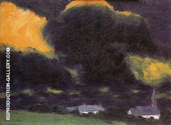 Stormy Landscape 1916 By Emil Nolde - Oil Paintings & Art Reproductions - Reproduction Gallery