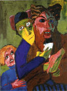 Excited People 1913 By Emil Nolde