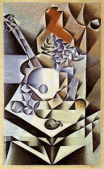 Still Life with Flowers 1912 By Juan Gris - Oil Paintings & Art Reproductions - Reproduction Gallery