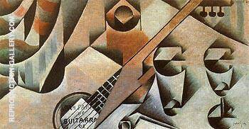 Guitar and Glasses By Juan Gris