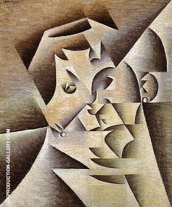 Portrait of the Artist's Mother 1912 By Juan Gris