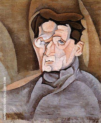 Reproduction of Portrait of Maurice Raynal 1912 by Juan Gris | Oil Painting Replica On CanvasReproduction Gallery