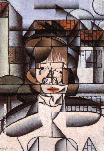 Portrait of Germaine Raynal 1912 By Juan Gris - Oil Paintings & Art Reproductions - Reproduction Gallery