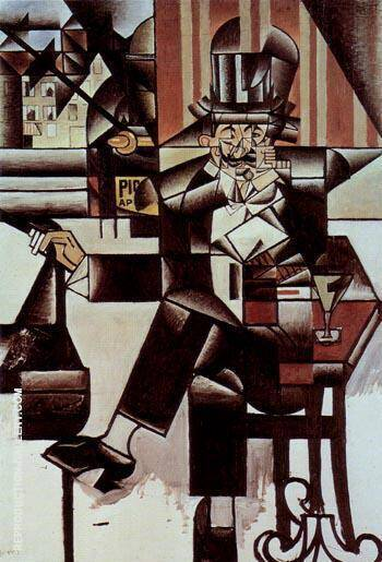 Man in the Cafe 1912 By Juan Gris Replica Paintings on Canvas - Reproduction Gallery