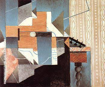 Guitar on the Table 1913 By Juan Gris